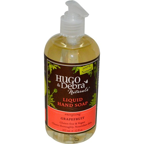 Hugo Naturals, Liquid Hand Soap, Grapefruit, 12 fl oz (355 ml) [Scent : Grapefruit]