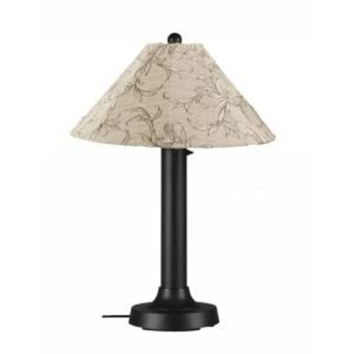 Patio Living Concepts Catalina 34 in. Black Outdoor Table Lamp with Bessemer Shade