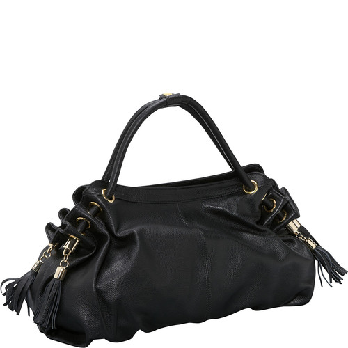 AmeriLeather Musette Leather Hobo