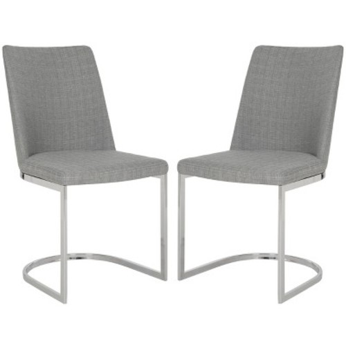 Safavieh Parkston Linen Grey Side Chair (Set of 2) [Safavieh Parkston Linen Grey Side Chair Set of 2]