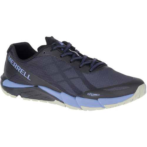 MERRELL Womens Bare Access Flex Trail Running Shoes, Black/Metallic Lilac