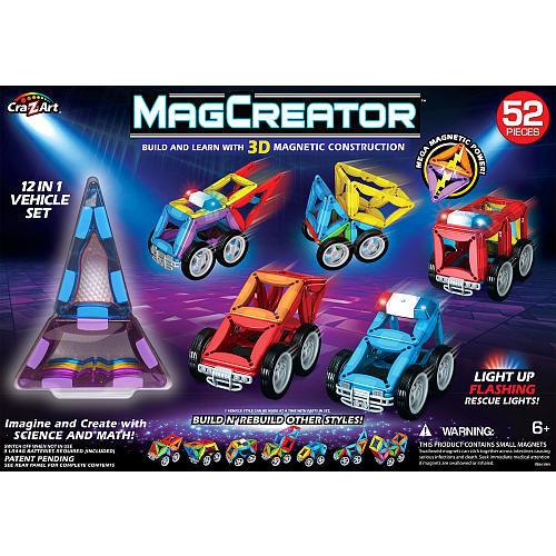 Cra-Z-Art 52 Piece MagCreator Vehicle Set