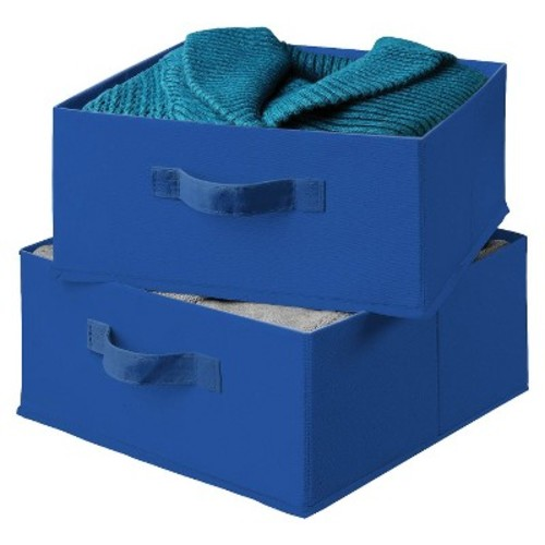 Honey-Can-Do SFT-01277 Drawers For Hanging Organizer, 2-Pack, Blue [Blue, Blue]