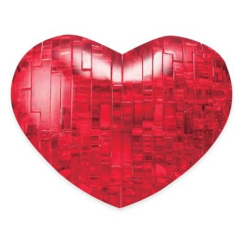 Heart 45-Piece Original 3D Crystal 45-Piece Puzzle in Red