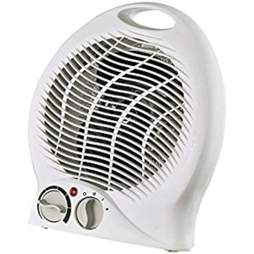 Optimus H-1322 Portable 2-Speed Fan Heater with Thermostat [1 Pack]