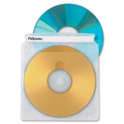 Fellowes Double-Sided CD Sleeves, Pack Of 50