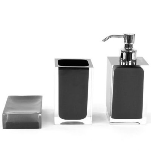Gedy by Nameeks Rainbow 3-Piece Bathroom Accessory Set; Black