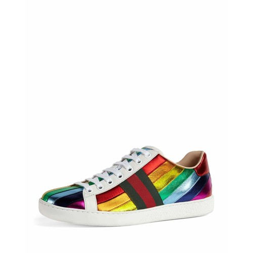 GUCCI Ace Metallic Striped Sneaker, Multi