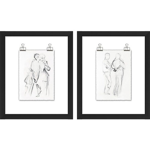 Couple Sketch Diptych