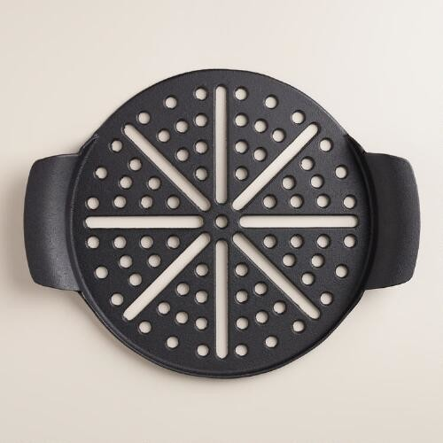Perforated Cast Iron Pizza Pan