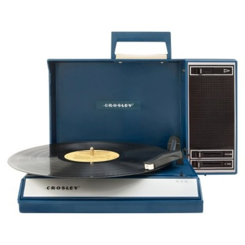 Crosley CR6016A-BL Spinnerette Portable USB Turntable with Software for Ripping and Editing Audio, Blue [Blue]