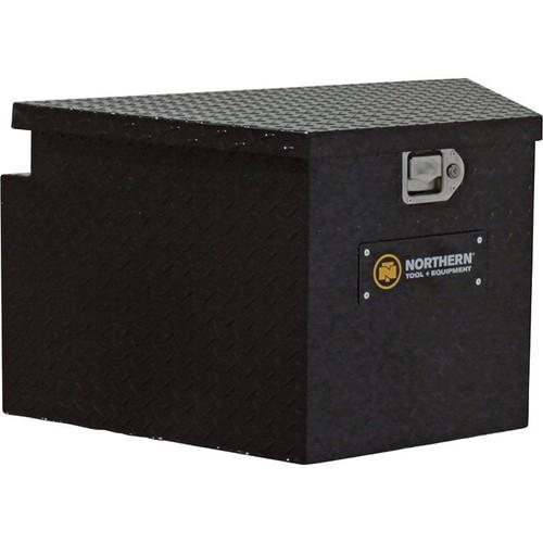 Northern Tool + Equipment Locking Trailer Tongue Gloss Black Tool Box Short Style, Aluminum, 34in.
