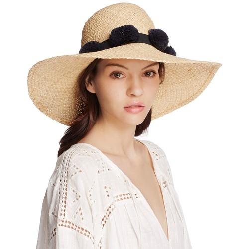 KATE SPADE NEW YORK Pom-Pom Sun Hat