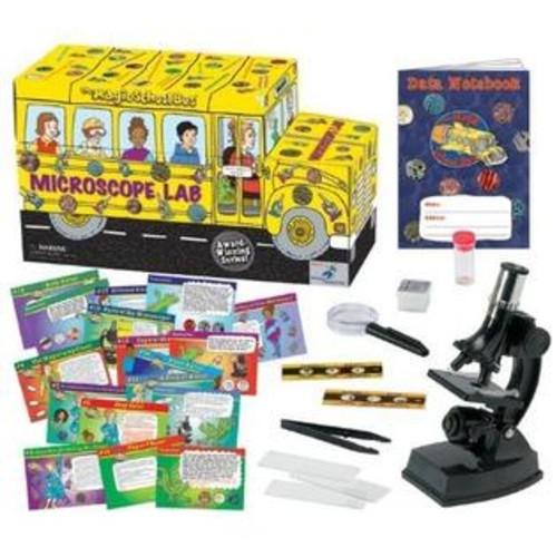 The Magic School Bus MICROSCOPE LAB, Kids Educational Bus Shaped SCIENCE KIT
