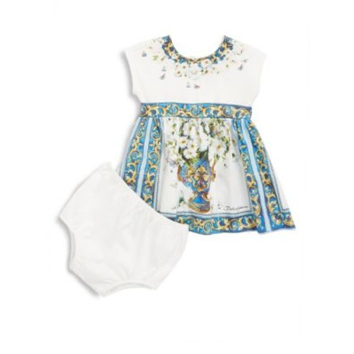 Baby's Two-Piece Cotton Dress and Bloomers Set