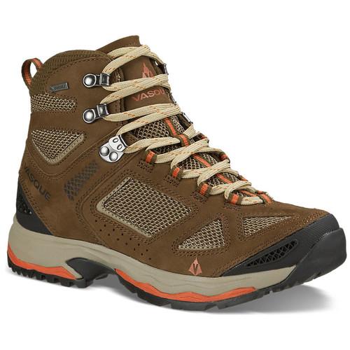 VASQUE Womens Breeze III GTX Hiking Boots, Slate Brown/Tandori
