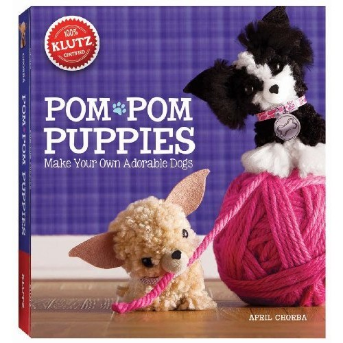 Klutz Pom-Pom Puppies: Make Your Own Adorable Dogs Craft Kit [Multicolor, None]