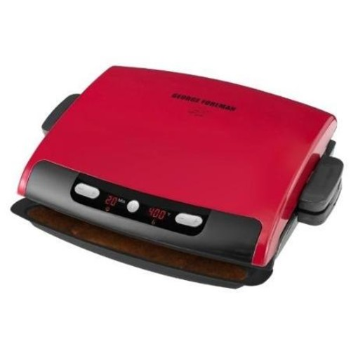 George Foreman 100 Inch Removable Plate Grill - 100 Sq. inch. Cooking Area - Red