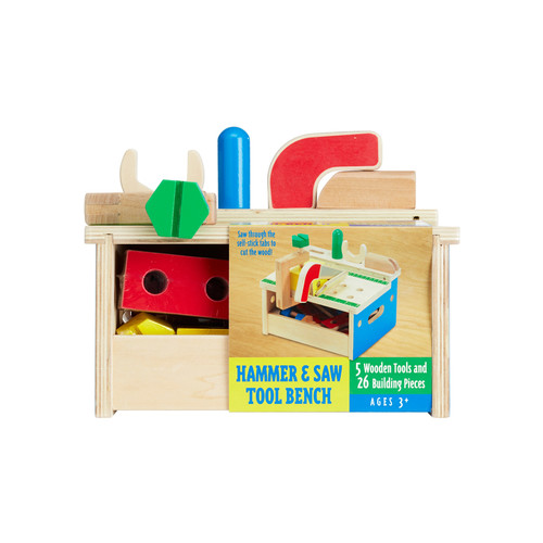 Hammer & Saw Tool Bench Set by Melissa & Doug