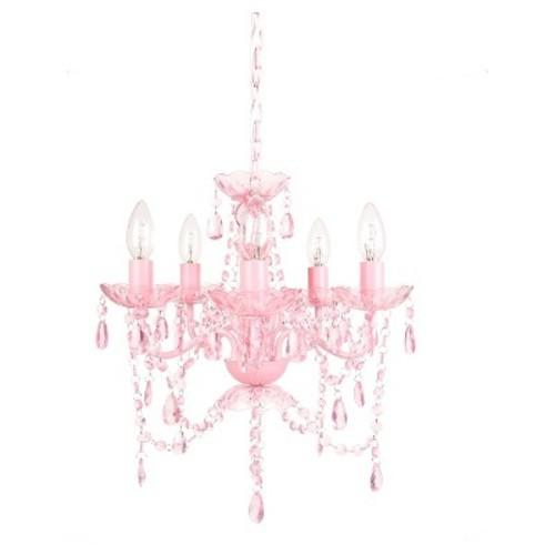 Tadpoles 5 Bulb Chandelier - Pink Sapphire