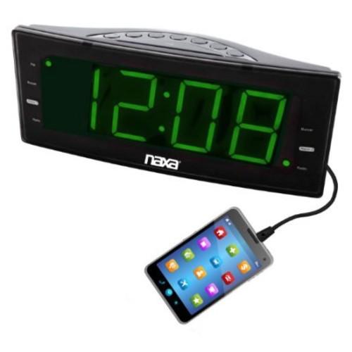 Naxa Nrc-166 Desktop Clock Radio - Mono - 2 X Alarm - Fm - Usb (nrc166)