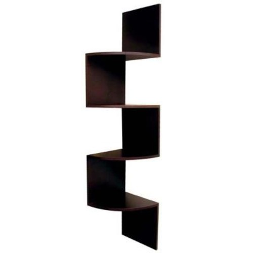 AZ Home and Gifts nexxt Provo 4-Tier 12 in. x 57 in. MDF Corner Shelf in Walnut