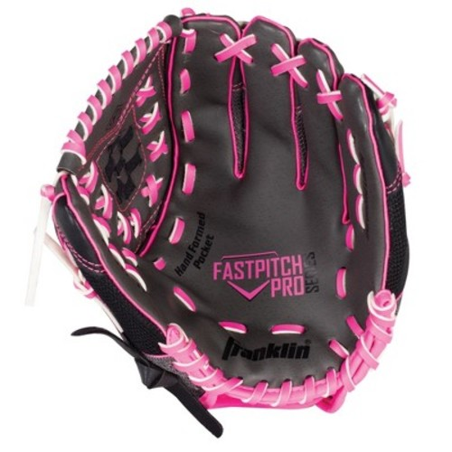 Franklin Sports PVC Windmill Series Right Handed Thrower Softball Glove - Gray/Pink Mesh (12.0\