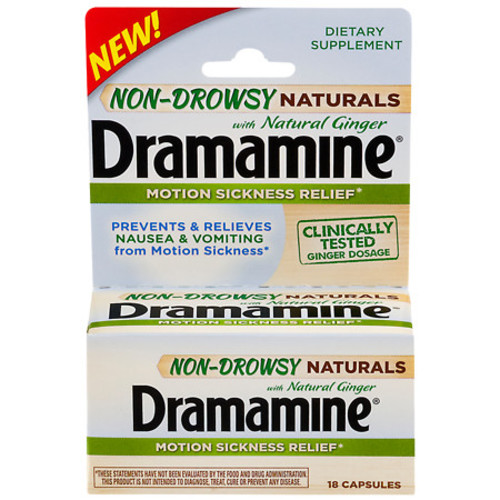 Dramamine Non-Drowsy Naturals Motion Sickness Relief Capsules
