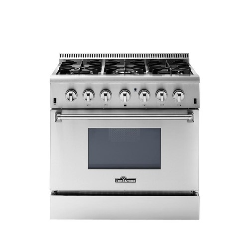 Thor Kitchen 36 in. 5.2 cu. ft. Oven Dual Fuel Range in Stainless Steel