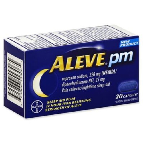 Aleve PM 20-Count Nighttime Sleep Aid Plus Pain Relief Caplets