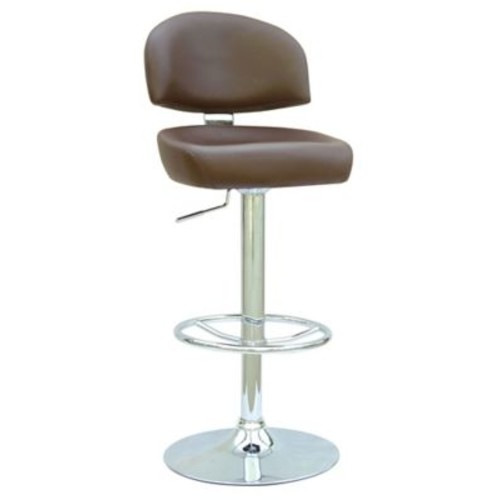 Chintaly Adjustable Height Swivel Bar Stool; Brown