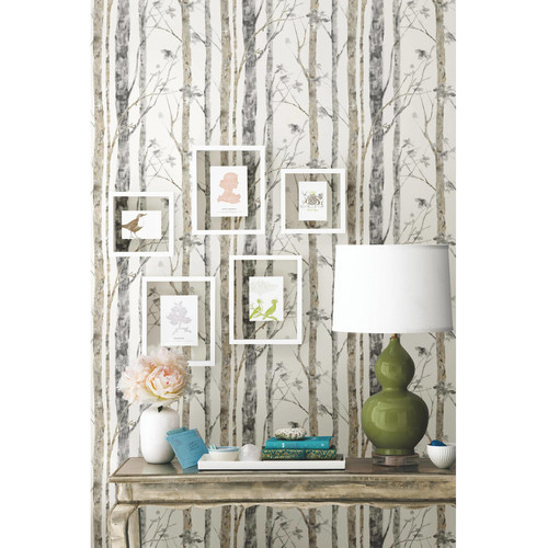 RoomMates 28.18 sq. ft. Birch Trees Peel and Stick Wallpaper