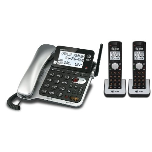 AT&T 2 Handset Corded/Cordless Answering System with Caller ID/Call Waiting (CL84202)