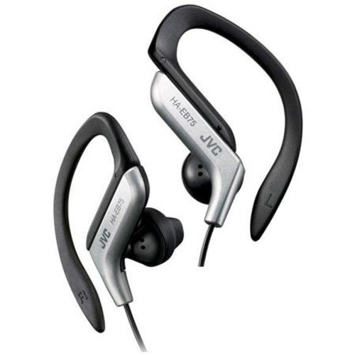 JVC HA-EB75-S Sports Ear Clip Headphones, Sliver HAEB75S