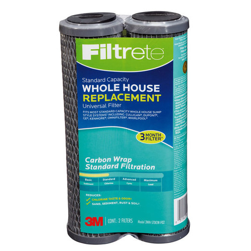 Filtrete Air Purifiers 3WH-STDCW-F02 Filtrete Whole House Carbon Replacement Filter 2 Count