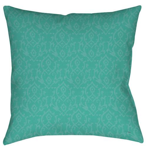 Flowing Damask Indoor/Outdoor Throw Pillow