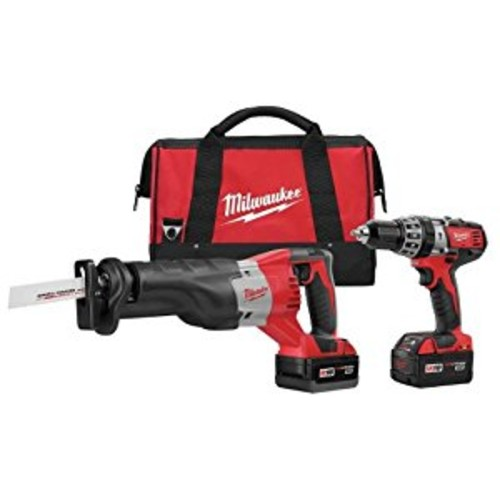 Milwaukee 2694-22 M18 18-Volt Lithium-Ion Cordless Hammer Drill/Sawzall Combo Kit (2-Tool)