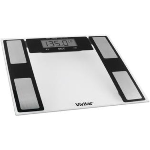Vivitar Total Fitness Digital Bathroom Scale (Clear) - PET