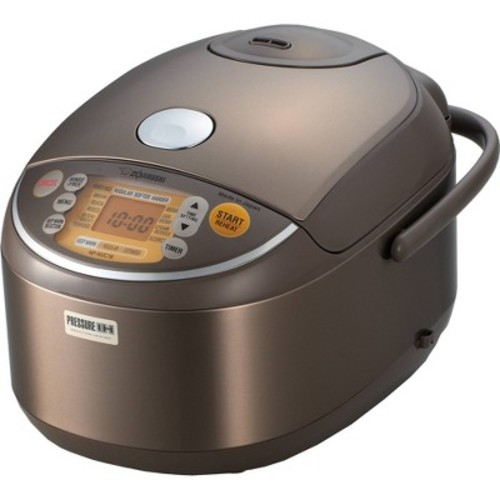 Zojirushi Induction Heating Pressure Rice Cooker & Warmer 1.8 Liter, Stainless Brown NP-NVC18 [1.8 Liter]