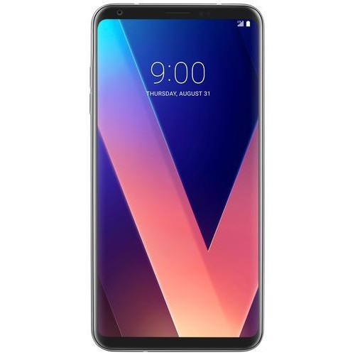 LG - V30 4G LTE with 64GB Memory Cell Phone (Unlocked) - Cloud Silver