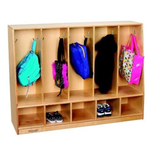 Childcraft Childcraft 2 Tier 5 Wide Coat Locker