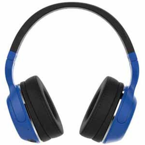 Skullcandy 15-Hour Bluetooth Wireless Headphones with Built-In Remote and Microphone - Blue/Black
