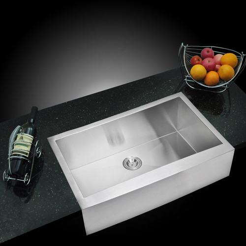 Water Creation Single Bowl Apron Front Kitchen Sink (36 x 22 inches) [Water Creation Single Bowl Apron Front Kitchen Sink 36 x 22 inches]