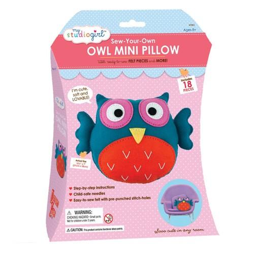 AreYouGame My Studio Girl Sew-Your-Own Owl Mini Pillow