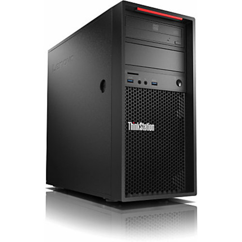 Lenovo ThinkStation P310 30AT000GUS Workstation - 1 x Intel Xeon E3-1245 Quad-core (4 Core) 3.50 GHz - 8 GB DDR4 SDRAM - 256 GB SSD - Windows 7 Professional 64-bit upgradable to Windows 10 Pro - Tower - Raven Black