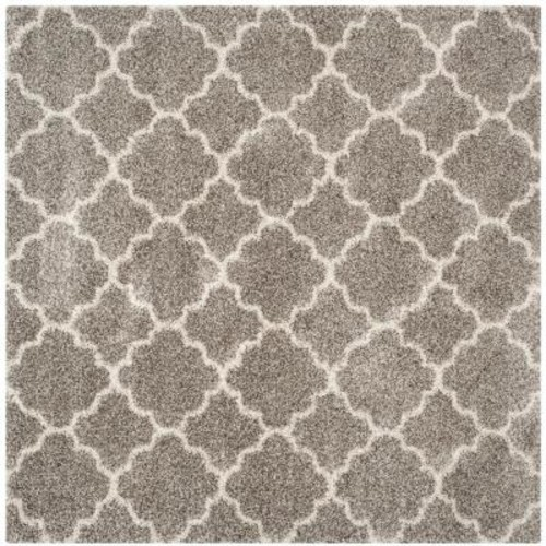 Safavieh Hudson Shag Gray/Ivory 7 ft. x 7 ft. Square Area Rug