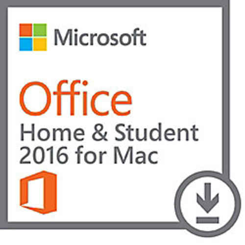 Office Home & Student 2016 for Mac, 1 Mac, Download Version