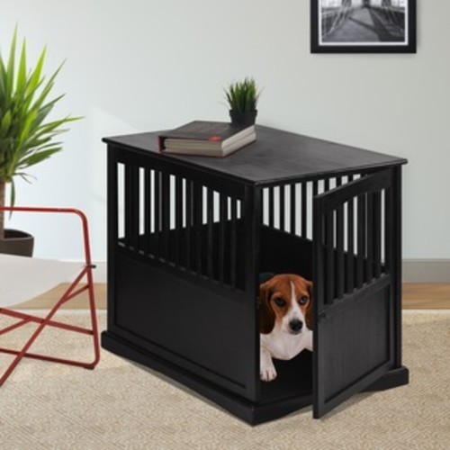 Wooden Pet Crate and Side Table by Merry Products