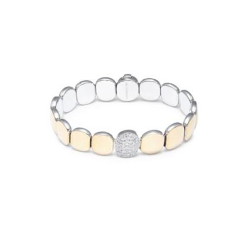 Chimento - Double Join Diamond, 18K Yellow Gold & White Gold Bracelet
