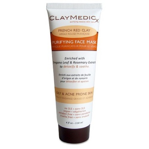 Claymedicx Purifying Face Mask - French Red Clay - 4oz